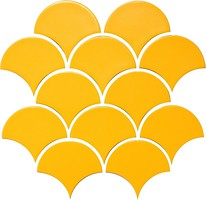 Фото Котто Кераміка мозаика Scales SC 6025 B Dark Yellow 27.5x28.5