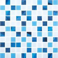 Фото Котто Кераміка мозаика GMP 0425018 C2 Print 19/Blue D Mat/White Mat 30x30