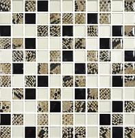 Фото Котто Кераміка мозаика GMP 0825035 C3 Print 35/Gold/Black 30x30