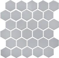 Фото Котто Кераміка мозаика Hexagon H 6002 Grey Silver 29.5x29.5
