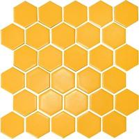 Фото Котто Кераміка мозаика Hexagon H 6025 Dark Yellow 29.5x29.5
