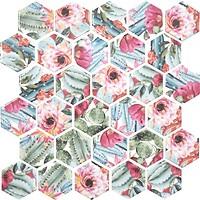Фото Котто Кераміка мозаика Hexagon HP 6024 29.5x29.5