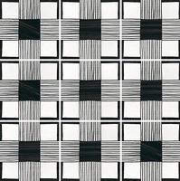 Фото Equipe Ceramicas декор Caprice Deco Cloth B&W 20x20