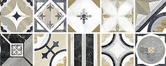 Фото Elios Ceramica набор декоров Marble Decoro Intarsio Mix 20x20
