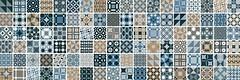 Фото Newker плитка мозаичная Gala Mosaico Cube Blue 20x60