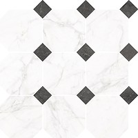 Фото Nowa Gala мозаика Frost White Mozaika Oktagon FW 01 Poler 33x33