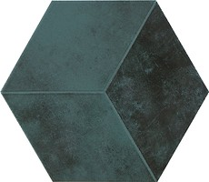 Фото Pamesa плитка мозаичная Kingsbury Jubilee Hexagonos Vert Compacglass 19.8x22.8