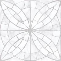 Фото Golden Tile плитка мозаичная Mosaic Flower белая 30x30 (8F0750)
