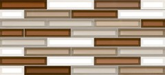 Фото Inter Cerama плитка мозаичная Vitro коричневая 23x50 (2350220032)