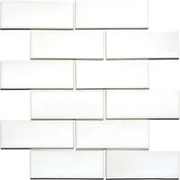 Фото Kotto Ceramica мозаика Brick B 6024 White 30x30