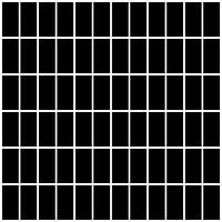 Фото Ceramika Paradyz мозаика прессованная Albir Nero 30x30 Куб 2.3x4.8