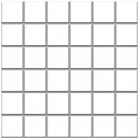 Фото Ceramika Paradyz мозаика прессованная Altea Bianco 30x30 Куб 4.8x4.8