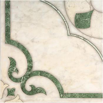 Фото Inter Cerama плитка напольная Castello зеленая 43x43