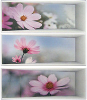 Фото Dual Gres декор-панно Silk Set Panoramic Malva 60x67.5 (комплект 3 шт)