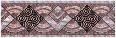 Фото Inter Cerama бордюр Etruscan коричневый 13.7x43