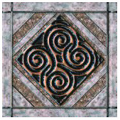 Фото Inter Cerama декор Etruscan серый 13.7x13.7