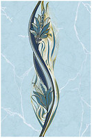 Фото Golden Tile декор Александрия голубой 20x30 (В13361)