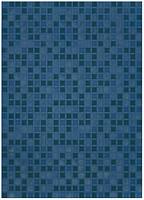 Фото БерезаКерамика плитка мозаичная Квадро синяя 25x35
