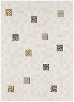 Фото БерезаКерамика декор Квадро Мозаика белый 25x35