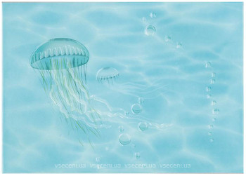 Фото БерезаКерамика декор Лазурь Медуза бирюзовый 25x35