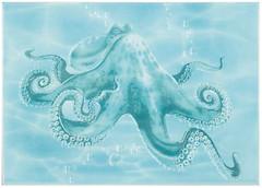 Фото БерезаКерамика декор Лазурь Осьминог бирюзовый 25x35