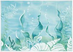 Фото БерезаКерамика декор Лазурь Морское дно бирюзовый 25x35