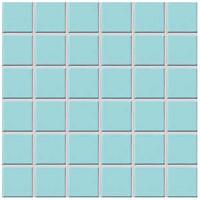 Фото Rako мозаика Color Two голубая матовая 29.7x29.7 Куб 4.7x4.7 (GDM05003)