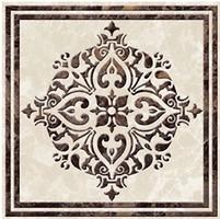 Фото Golden Tile вставка Vulcano бежевая 9.3x9.3 (Д11321)