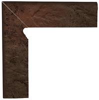 Фото Ceramika Paradyz цоколь Semir Cokol Brown 8.1x30 левый
