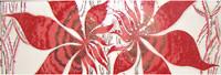 Фото БерезаКерамика фриз Магия бордовый 8.5x25