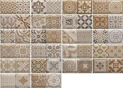 Фото Monopole Ceramica плитка настенная Antique Marron 10x20