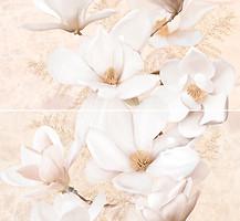 Фото Inter Cerama декор-панно Emperador 031-1 светло-коричневое 46x50 (комплект 2 шт)