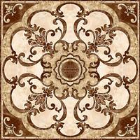 Фото Inter Cerama декор-панно Emperador коричневое 86x86 (комплект 4 шт)