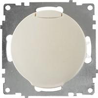 Фото OneKeyElectro Розетка 1E10501301 одинарная с заземлением и крышкой