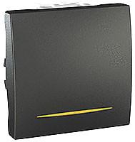 Schneider Переключатель Unica MGU3.203.12S с подсветкой