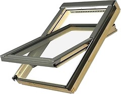 Фото Мансардное окно деревянное Fakro FTP-V U3 Electro 780х980 1 ств. (цент. ось) 1-кам.