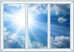 Окно Rehau 2100х1400 3-ств. (пов.-отк.) 1-кам.