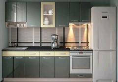 Фото Альфа-мебель Кухня с гладкими фасадами МДФ 2.1