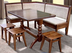 Фото МиксМебель Семейный стол + 3 табурета