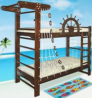 Фото Ирель Двухъярусная кровать-спортивный уголок Пират
