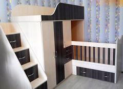 Фото Merabel Двухъярусная кровать-трансформер (ал17)