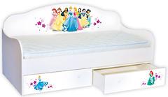 Фото Mebelkon Кроватка-диванчик Принцессы 80x160 с бортиком