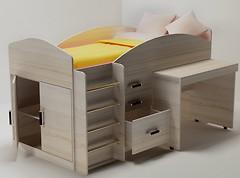Непоседа Кровать-чердак с рабочей зоной