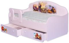Фото Mebelkon Кроватка-диванчик Король Лев 80x190 с ящиком и бортиком