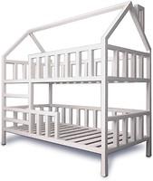 Фото Drevos Кроватка-домик двухъярусная Standart plus 80x150