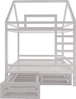 Фото Drevos Кроватка-домик двухъярусная Standart S 80x150