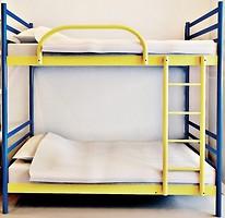 Фото Азимут Двухъярусная металлическая кровать 80x190