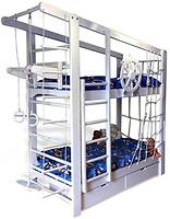 Фото Babygrai Капитан двухъярусная кровать с ящиками 70x160