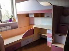 Фото Merabel Двухъярусная кровать с рабочей зоной (ал14-3)