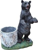 Фото Славянский Сувенир Медведь с пеньком (4.150)